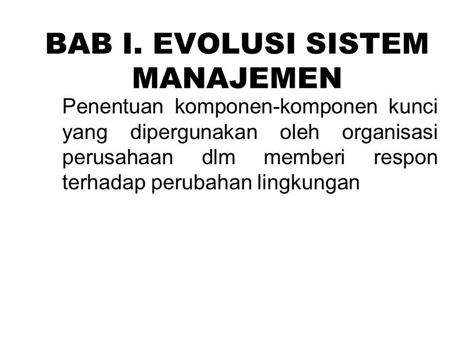 BAB I. EVOLUSI SISTEM MANAJEMEN
