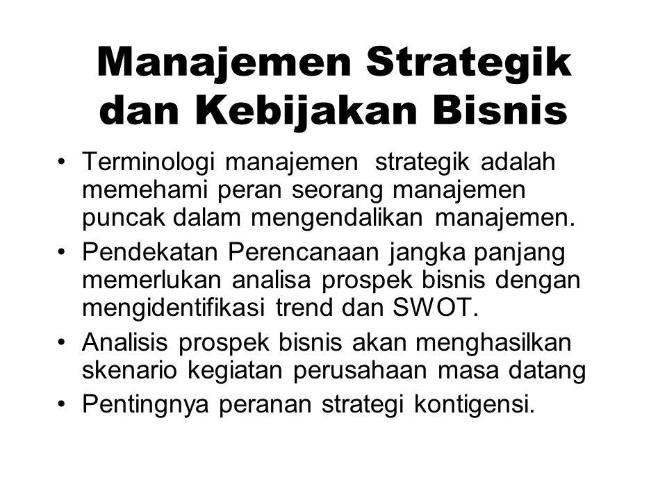 Manajemen Strategik dan Kebijakan Bisnis