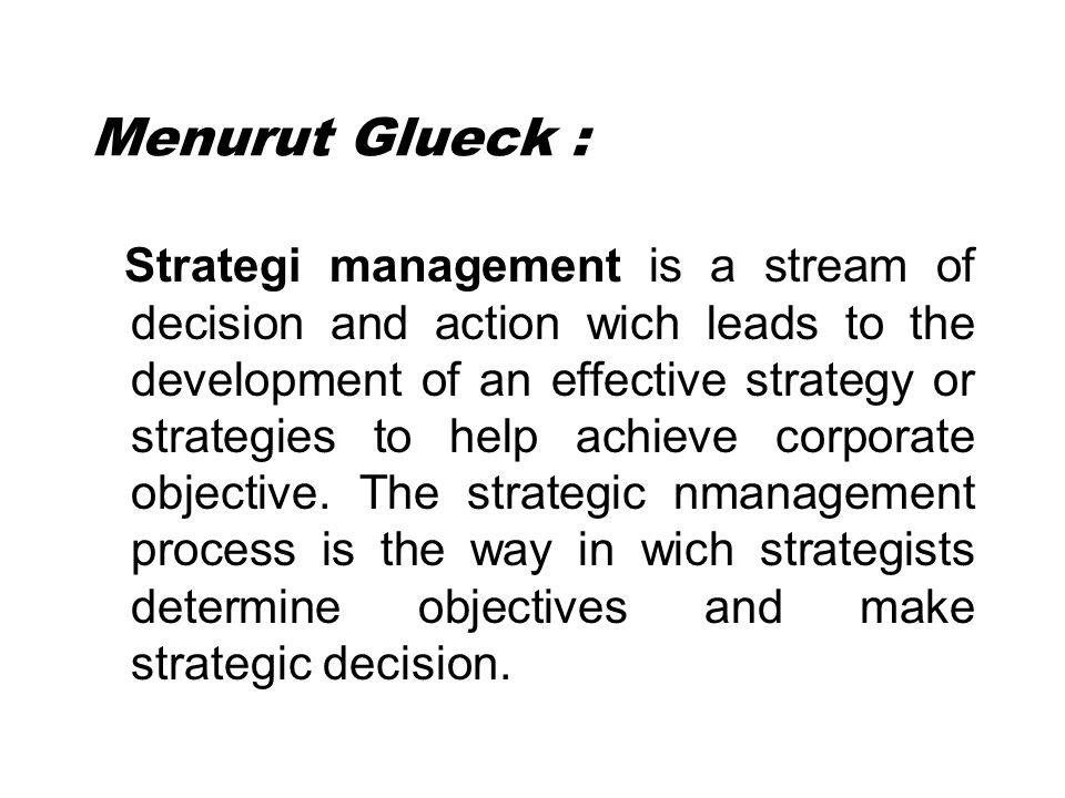 Menurut Glueck :