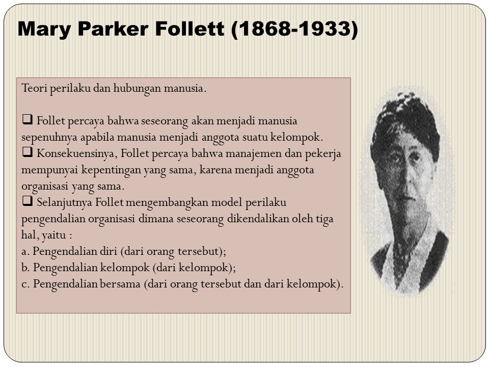 Mary Parker Follett (1868-1933)