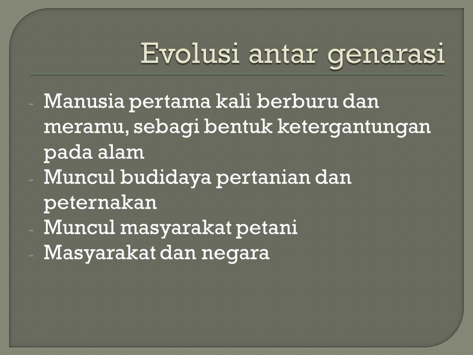 Evolusi antar genarasi