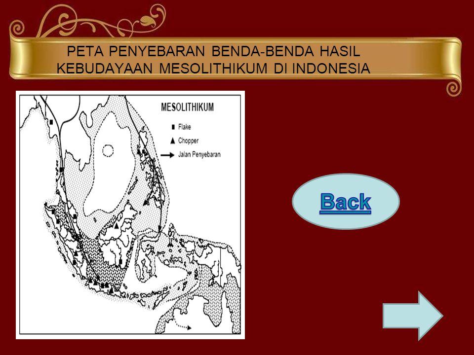 PETA PENYEBARAN BENDA-BENDA HASIL KEBUDAYAAN MESOLITHIKUM DI INDONESIA