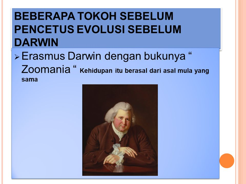 BEBERAPA TOKOH SEBELUM PENCETUS EVOLUSI SEBELUM DARWIN