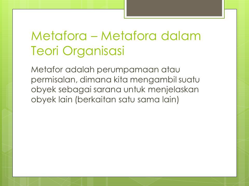 Metafora – Metafora dalam Teori Organisasi
