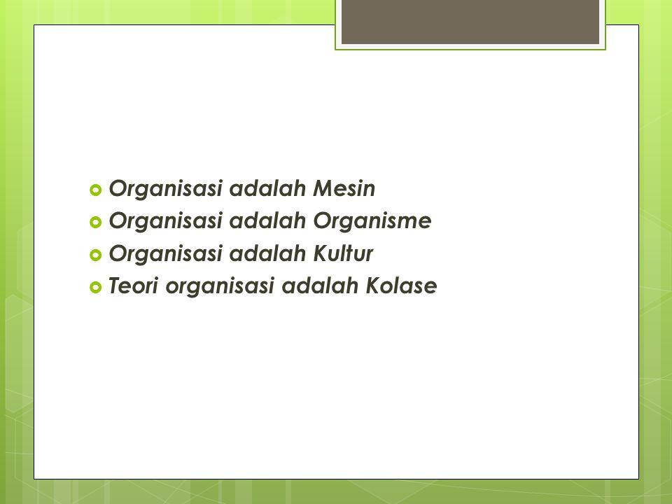 Organisasi adalah Mesin