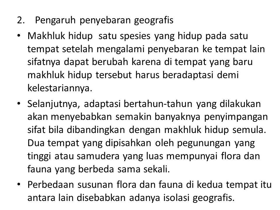 2. Pengaruh penyebaran geografis