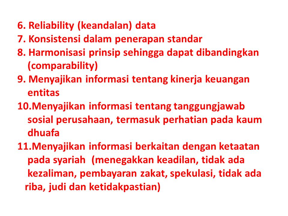 6. Reliability (keandalan) data 7