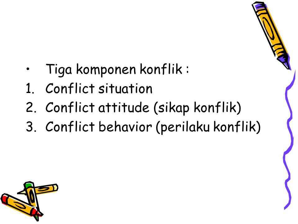Tiga komponen konflik :
