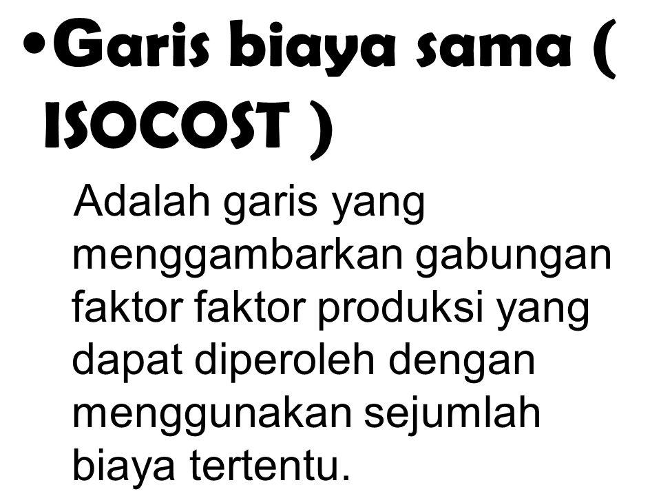 Garis biaya sama ( ISOCOST )