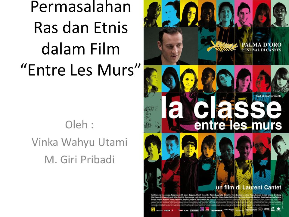 Permasalahan Ras dan Etnis dalam Film Entre Les Murs