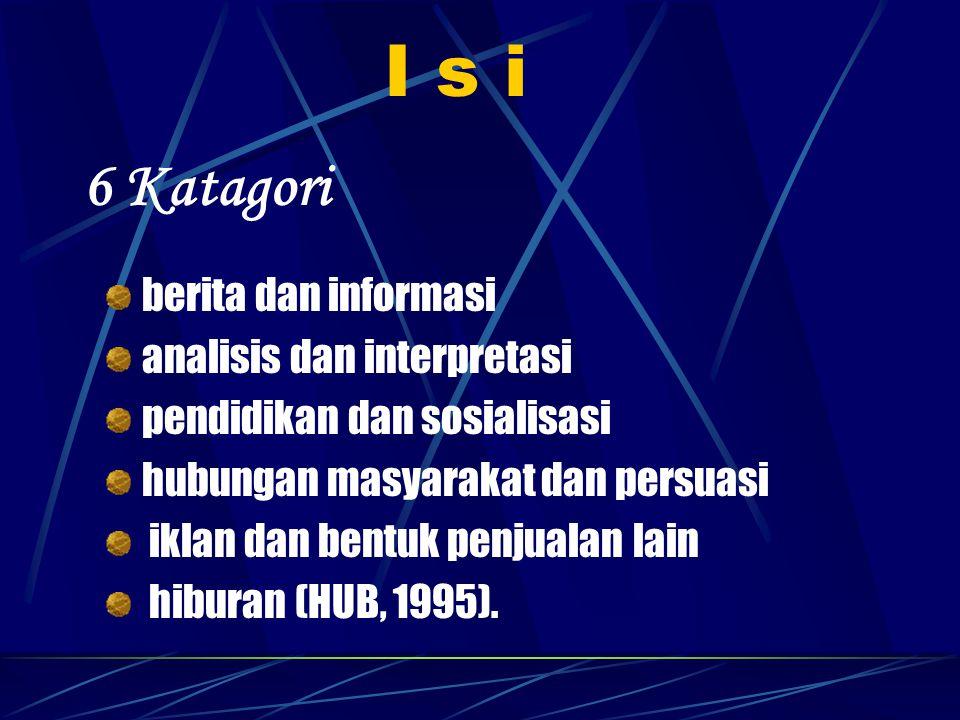 I s i 6 Katagori berita dan informasi analisis dan interpretasi