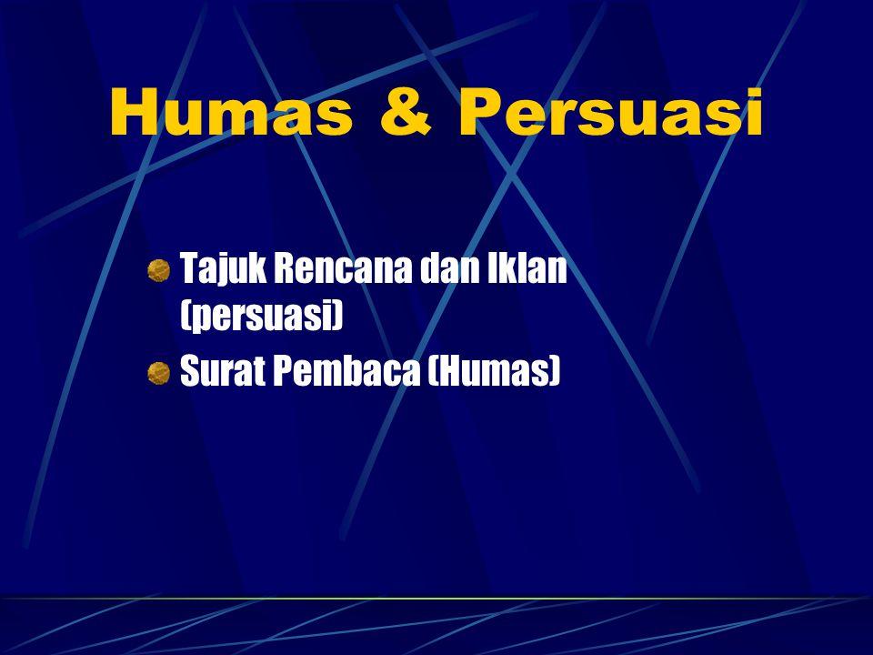 Humas & Persuasi Tajuk Rencana dan Iklan (persuasi)