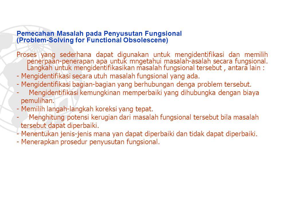 Pemecahan Masalah pada Penyusutan Fungsional (Problem-Solving for Functional Obsolescene)
