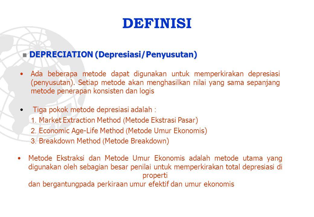DEFINISI DEPRECIATION (Depresiasi/Penyusutan)