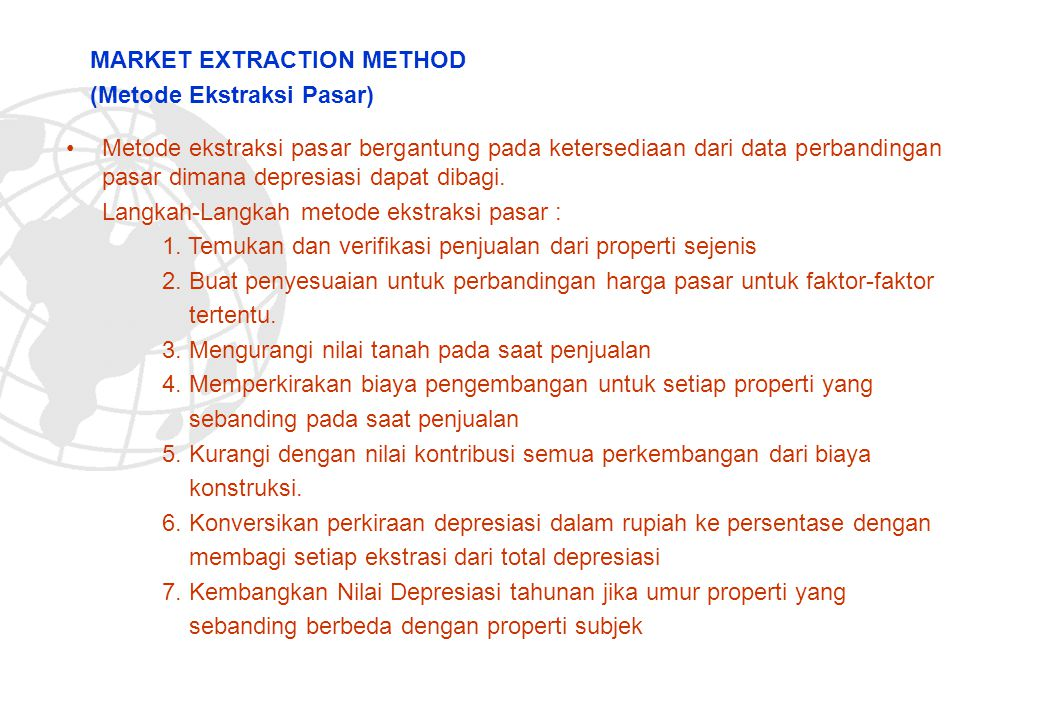 MARKET EXTRACTION METHOD