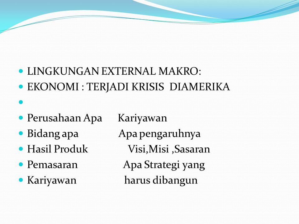 LINGKUNGAN EXTERNAL MAKRO: