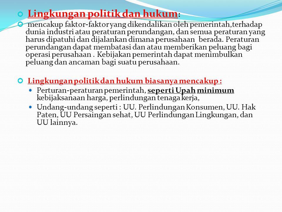 Lingkungan politik dan hukum: