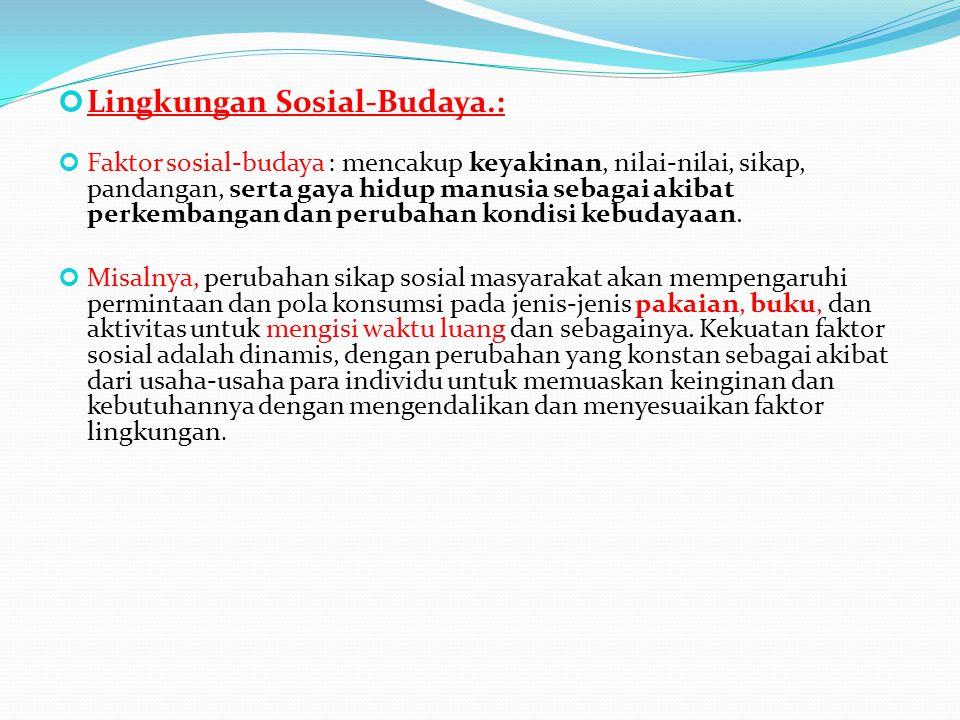 Lingkungan Sosial-Budaya.: