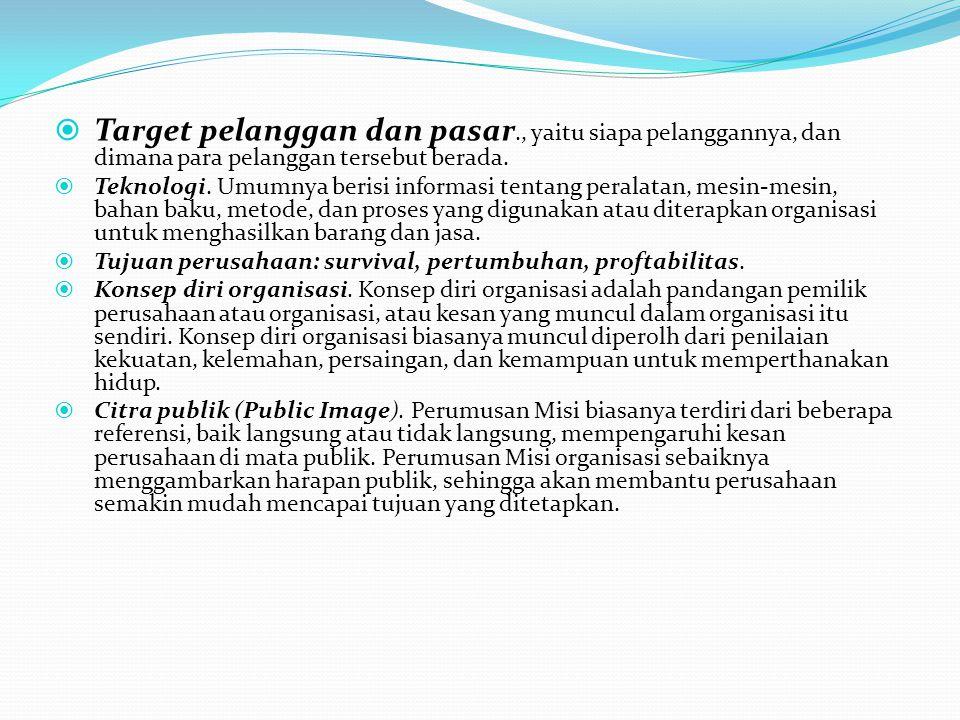 Target pelanggan dan pasar