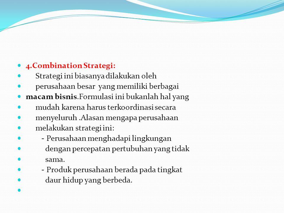 4.Combination Strategi: