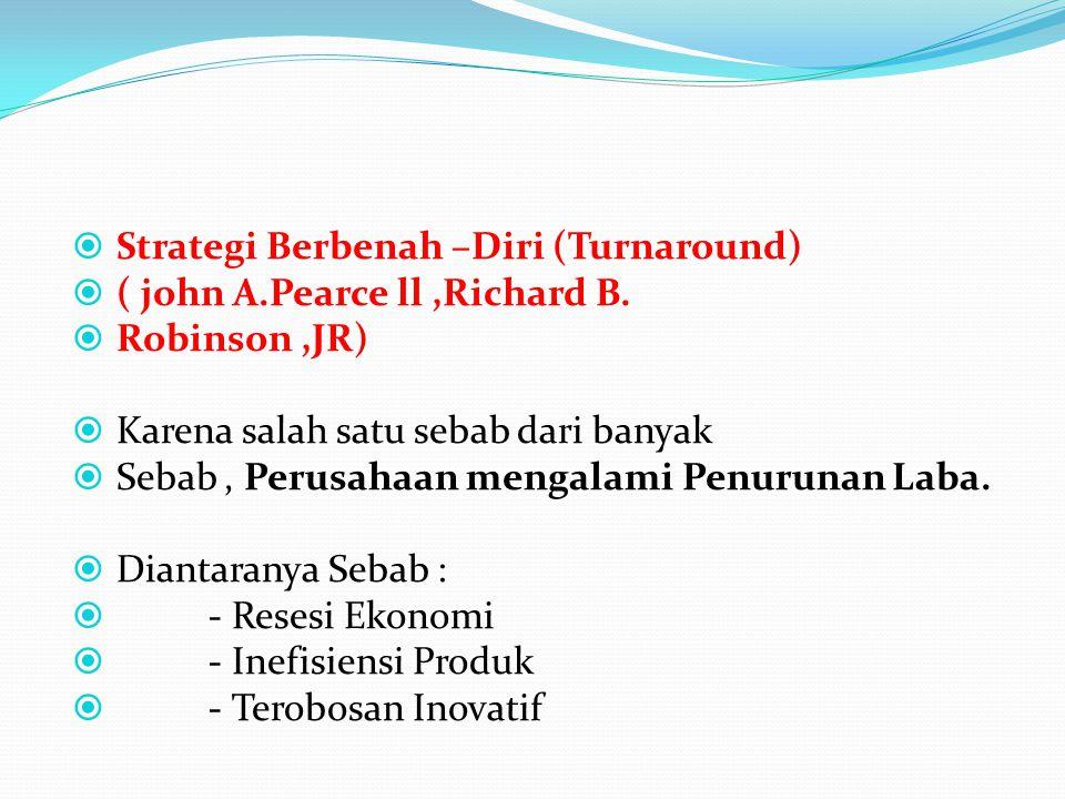 Strategi Berbenah –Diri (Turnaround)