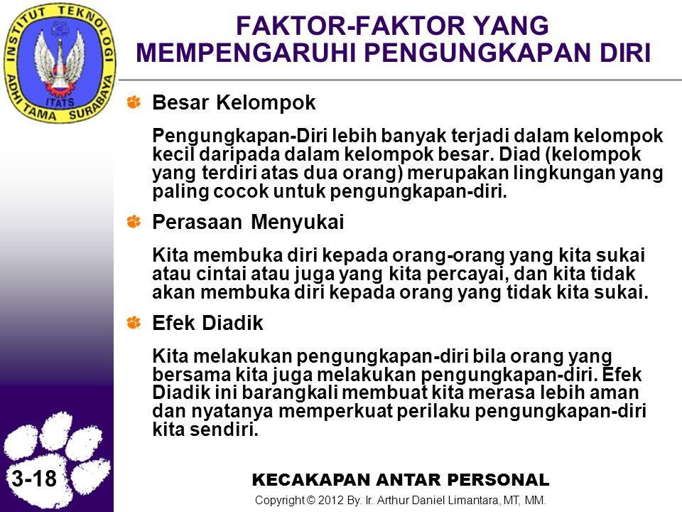 FAKTOR-FAKTOR YANG MEMPENGARUHI PENGUNGKAPAN DIRI
