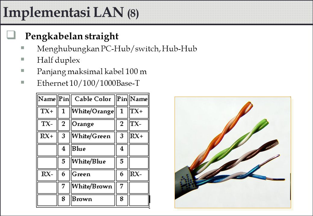 Implementasi LAN (8) Pengkabelan straight