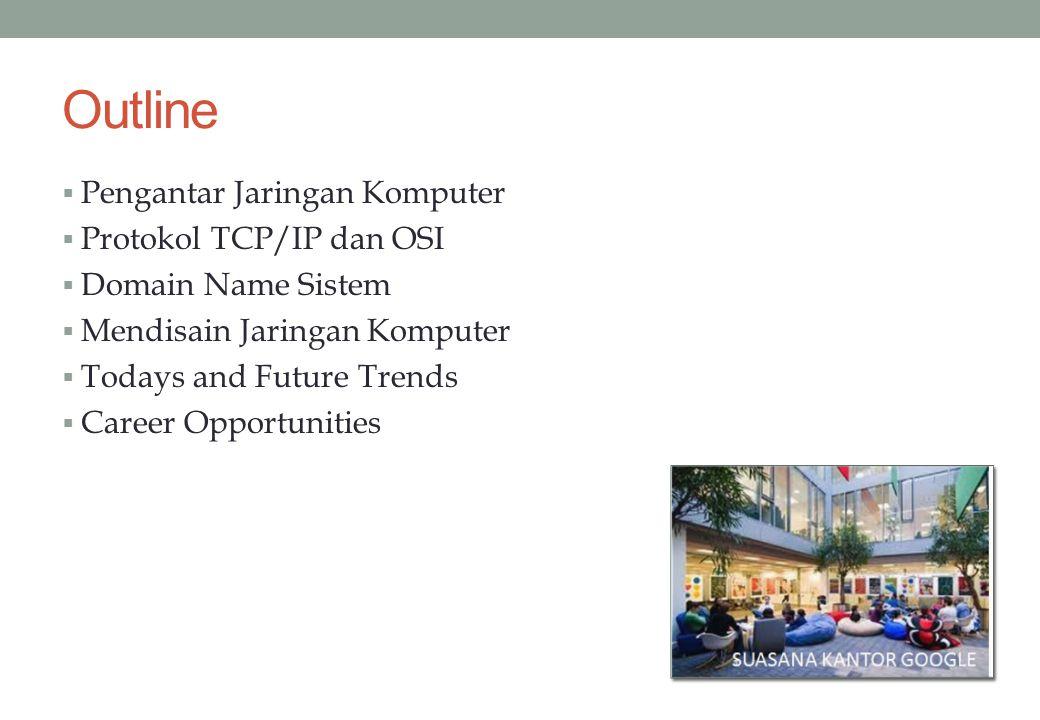 Outline Pengantar Jaringan Komputer Protokol TCP/IP dan OSI
