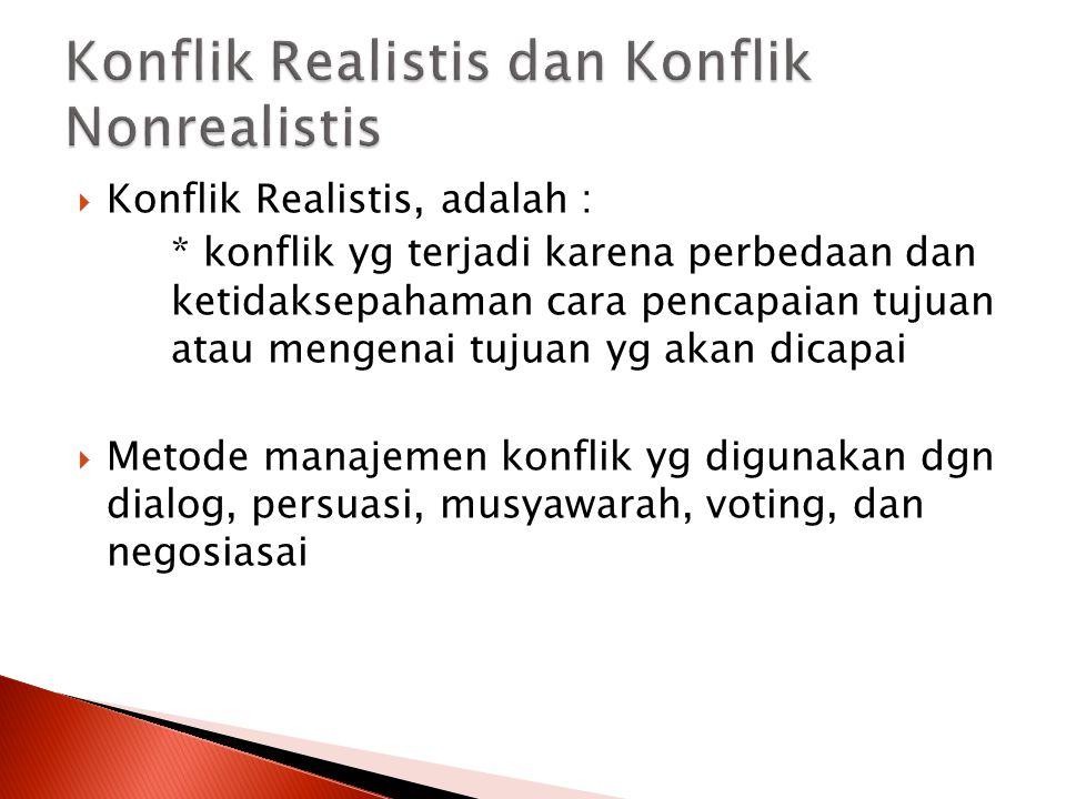 Konflik Realistis dan Konflik Nonrealistis