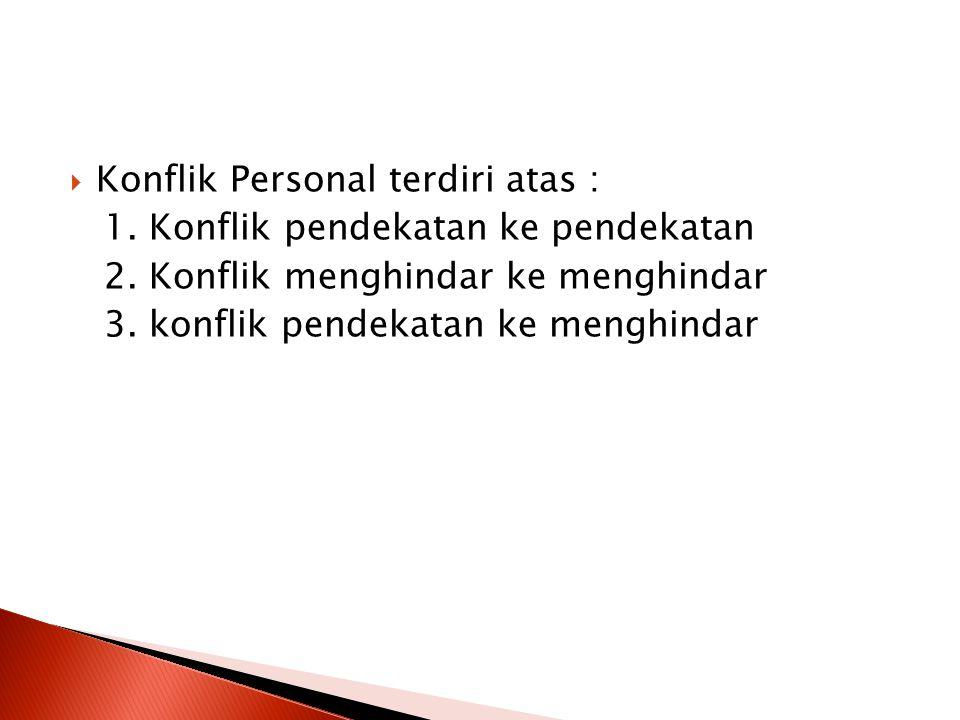 Konflik Personal terdiri atas :