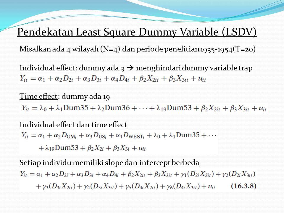 Pendekatan Least Square Dummy Variable (LSDV)