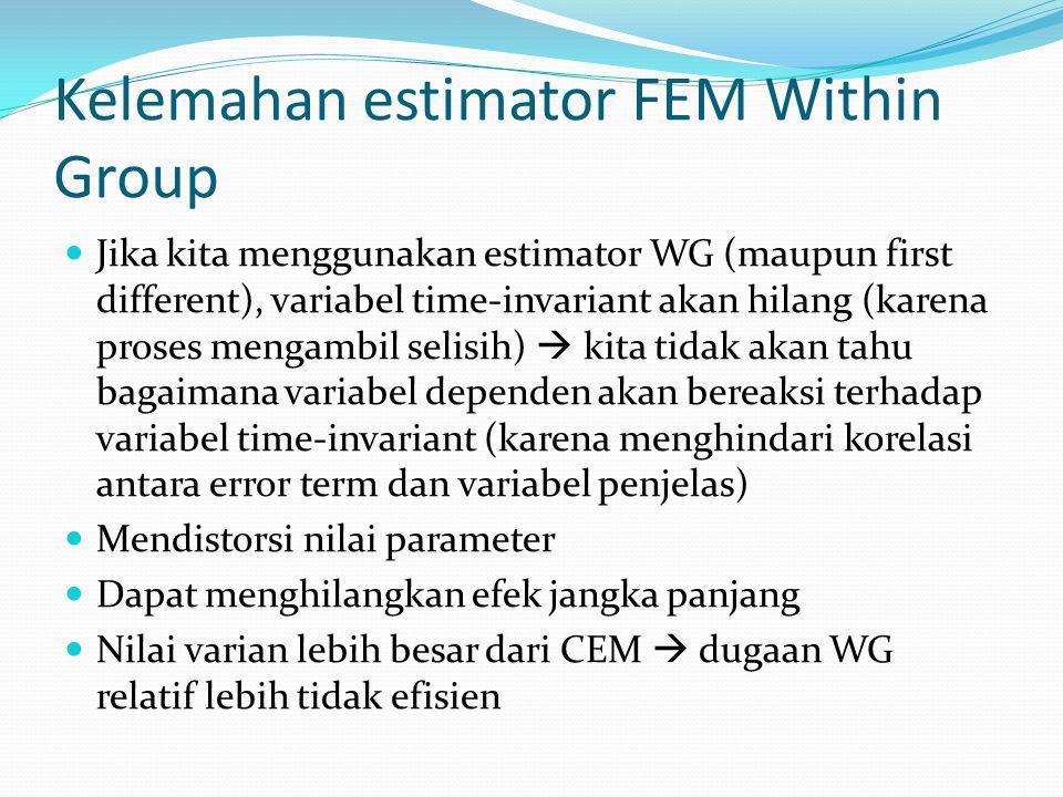 Kelemahan estimator FEM Within Group
