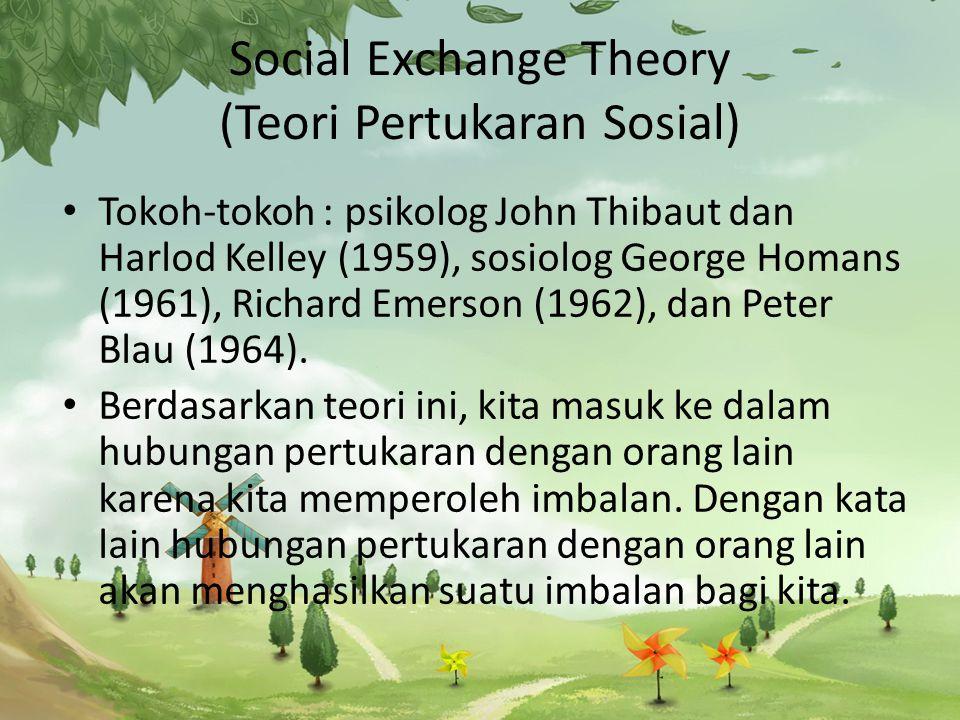 Social Exchange Theory (Teori Pertukaran Sosial)