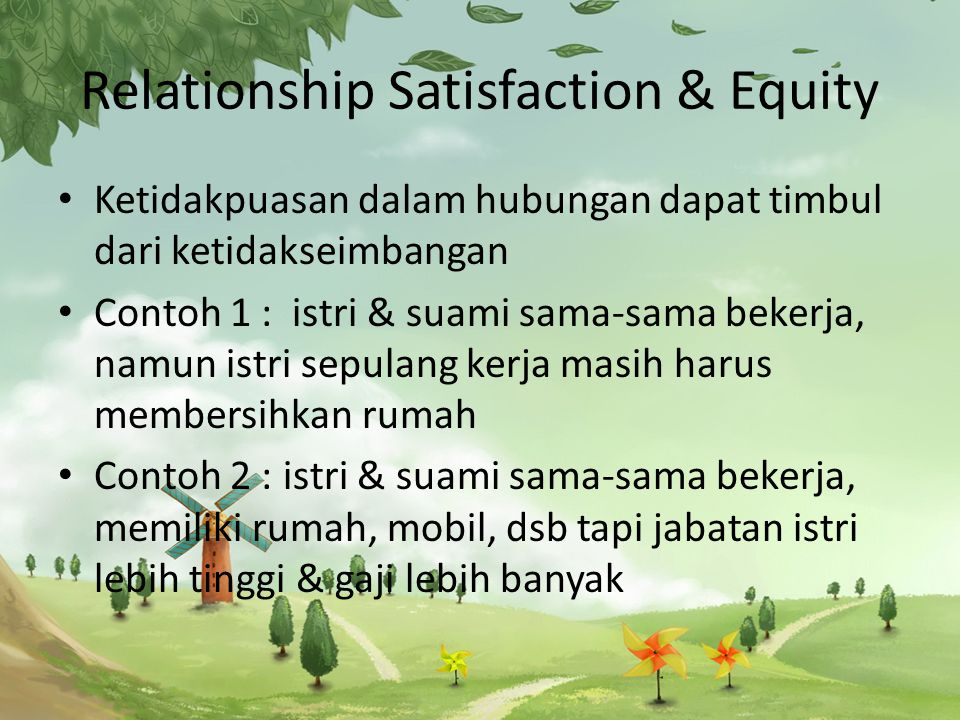 Relationship Satisfaction & Equity