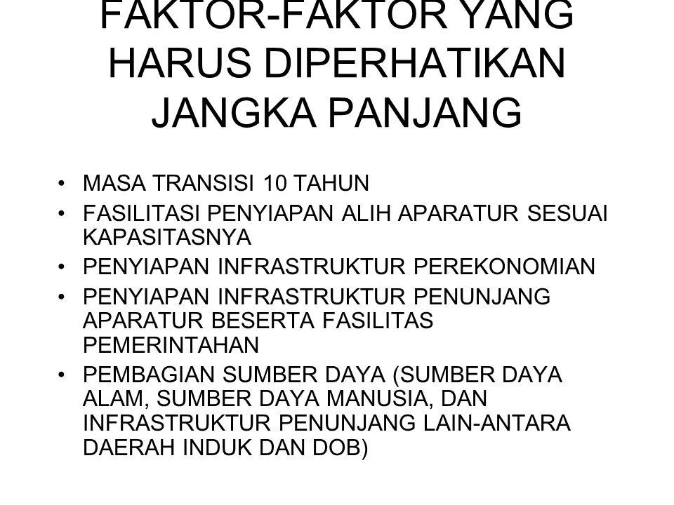 FAKTOR-FAKTOR YANG HARUS DIPERHATIKAN JANGKA PANJANG