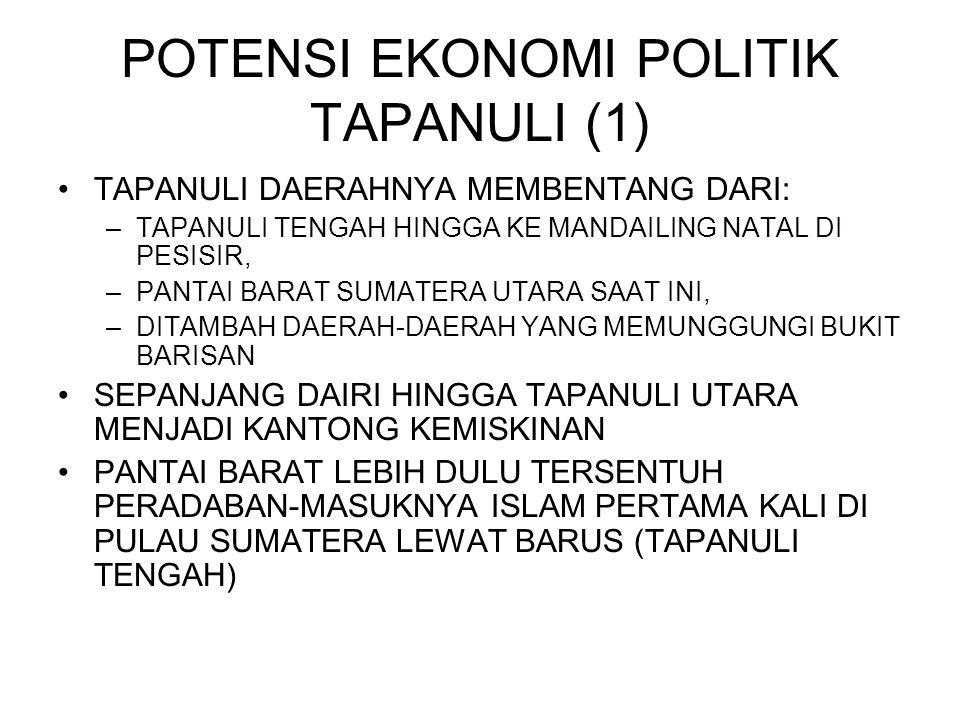 POTENSI EKONOMI POLITIK TAPANULI (1)