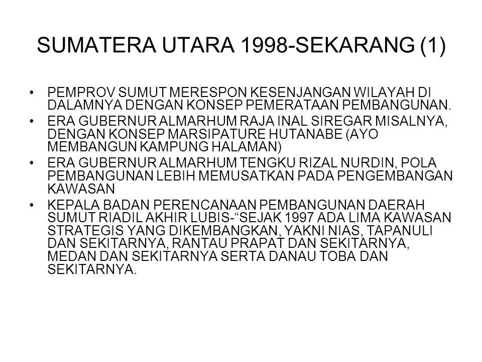 SUMATERA UTARA 1998-SEKARANG (1)