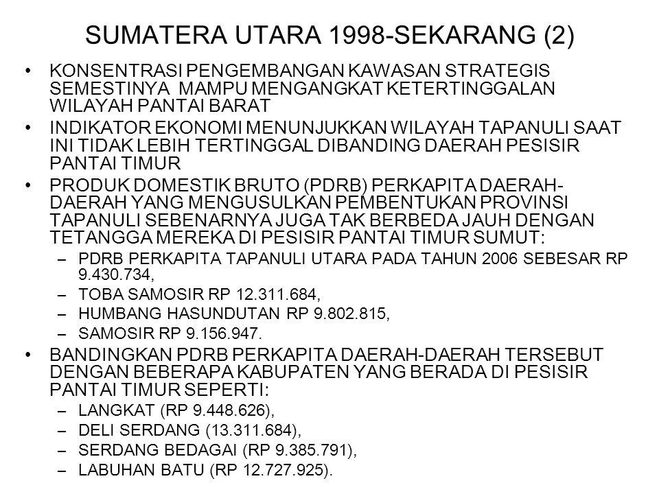 SUMATERA UTARA 1998-SEKARANG (2)