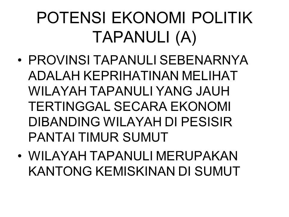 POTENSI EKONOMI POLITIK TAPANULI (A)