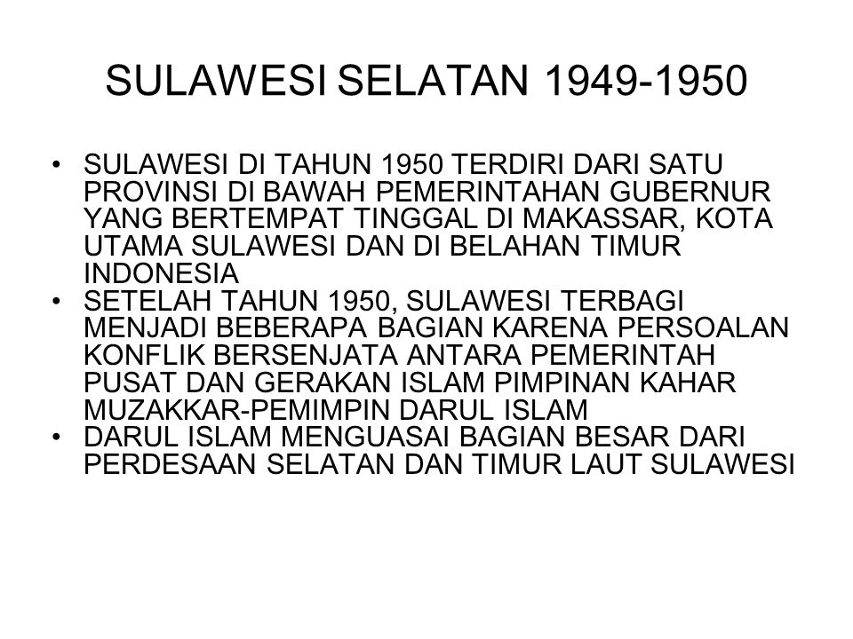 SULAWESI SELATAN 1949-1950