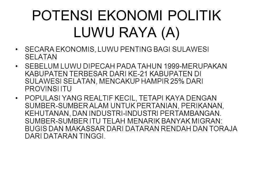 POTENSI EKONOMI POLITIK LUWU RAYA (A)