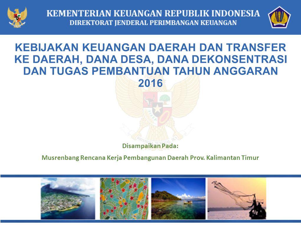 Musrenbang Rencana Kerja Pembangunan Daerah Prov. Kalimantan Timur