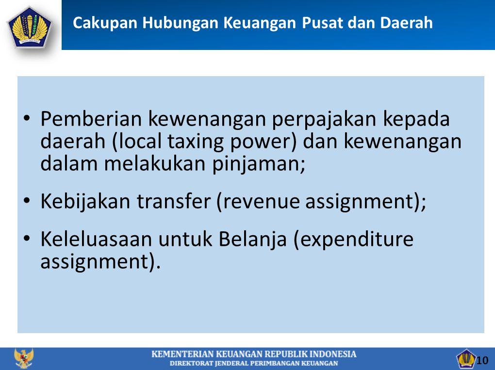 Kebijakan transfer (revenue assignment);