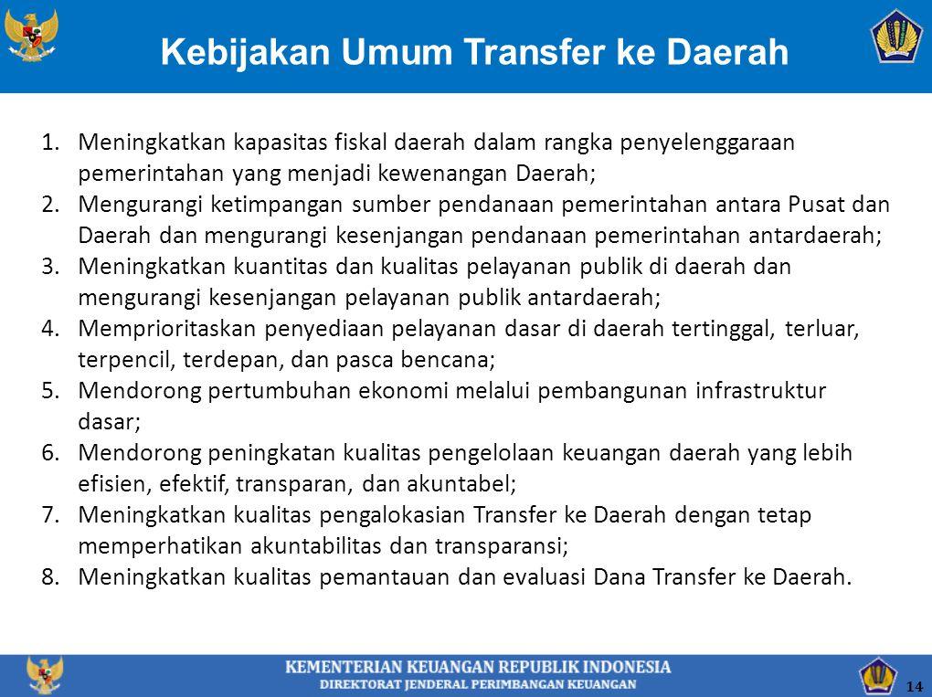 Kebijakan Umum Transfer ke Daerah