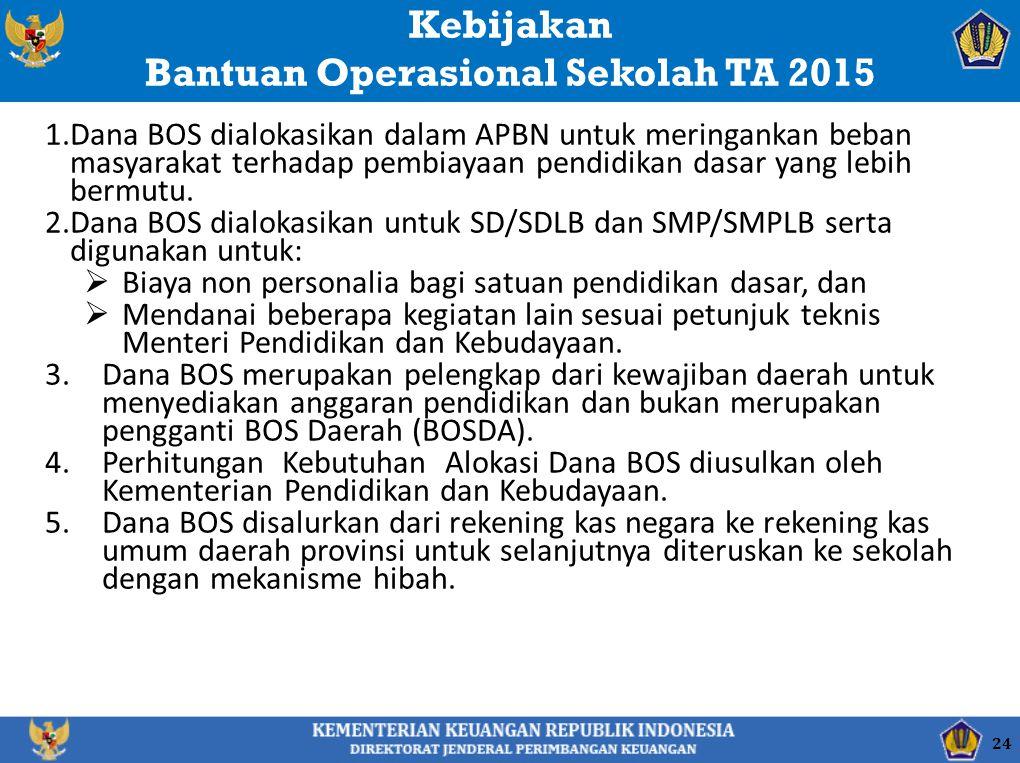 Bantuan Operasional Sekolah TA 2015