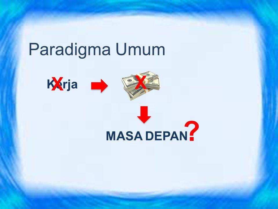 Paradigma Umum X X Kerja MASA DEPAN