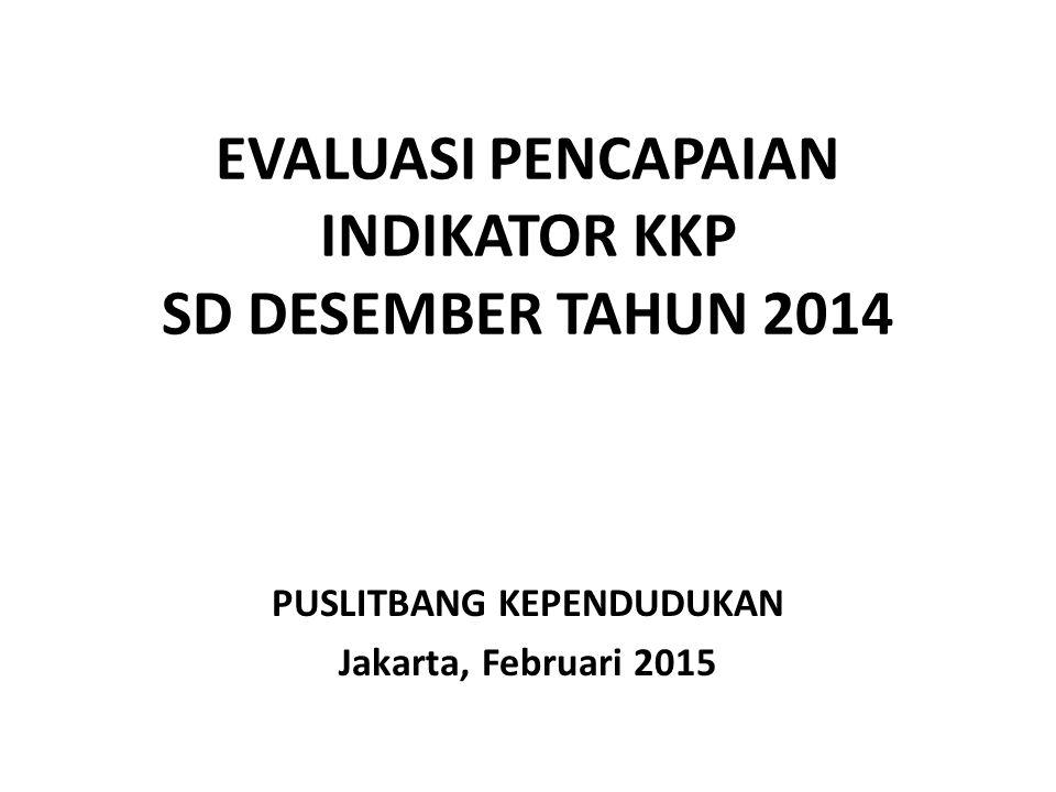 EVALUASI PENCAPAIAN INDIKATOR KKP SD DESEMBER TAHUN 2014