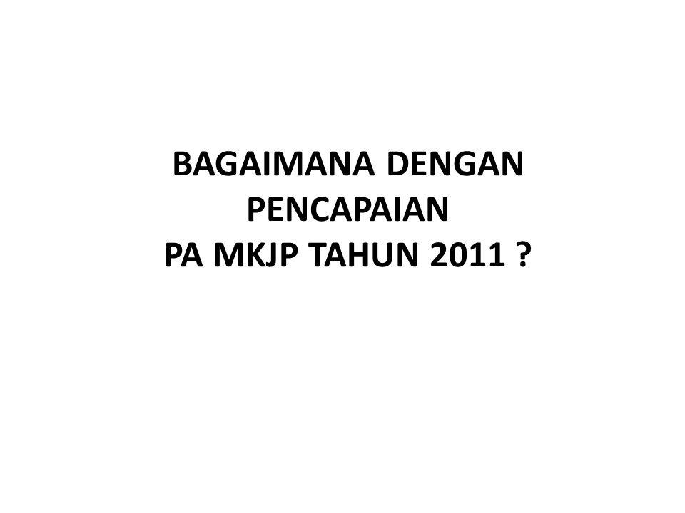 BAGAIMANA DENGAN PENCAPAIAN PA MKJP TAHUN 2011
