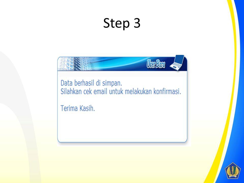 Step 3 Akan muncul notifikasi apabila data berhasil disimpan.
