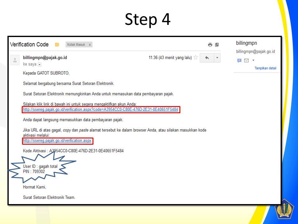 Step 4 Ikuti petunjuk yang tertera pada e-mail